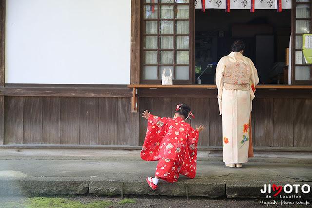 池田市の伊居太神社の七五三出張撮影
