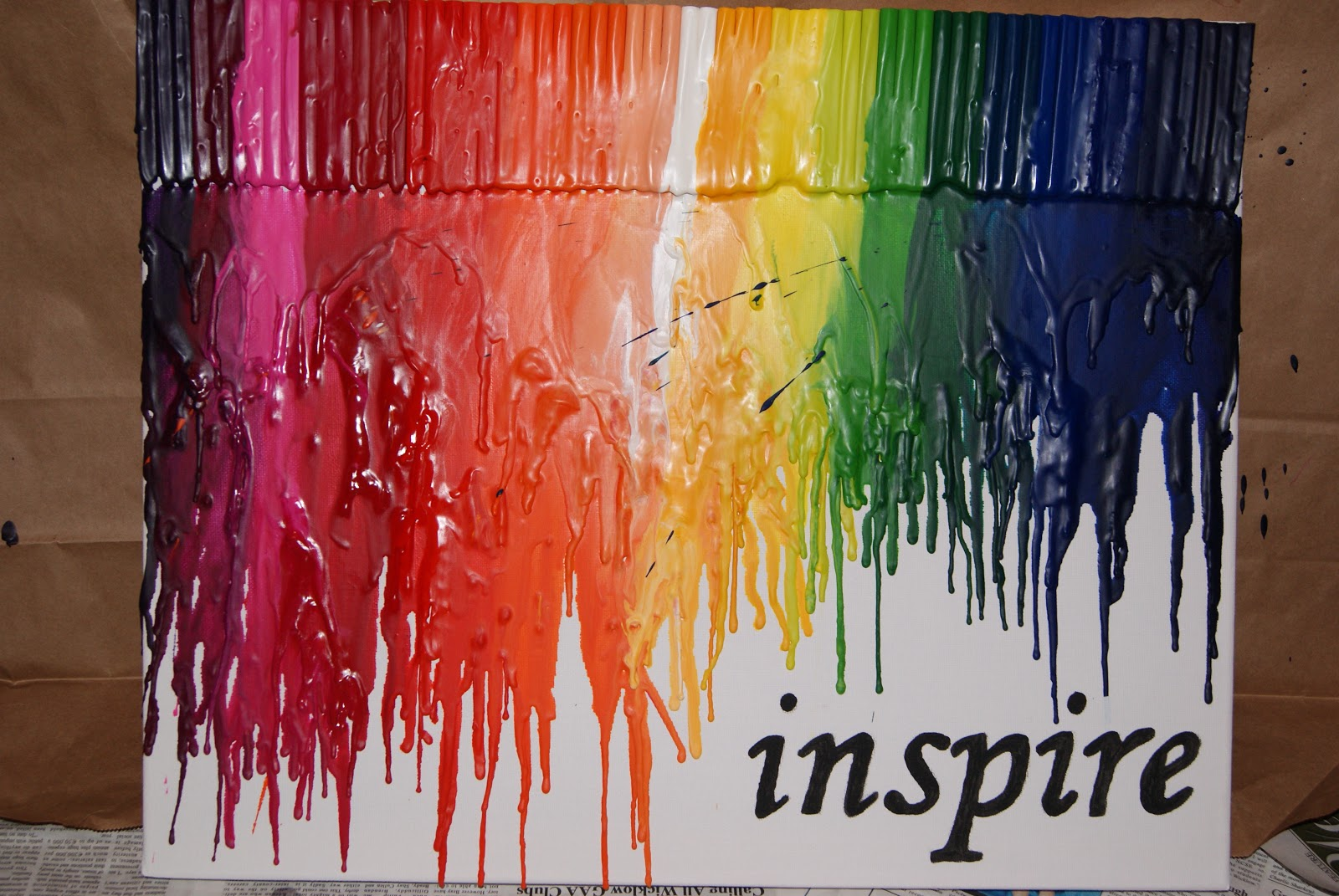 Bilder Zum Malen Auf Leinwand Being Inspired: Day 12 - Melted Crayon Art