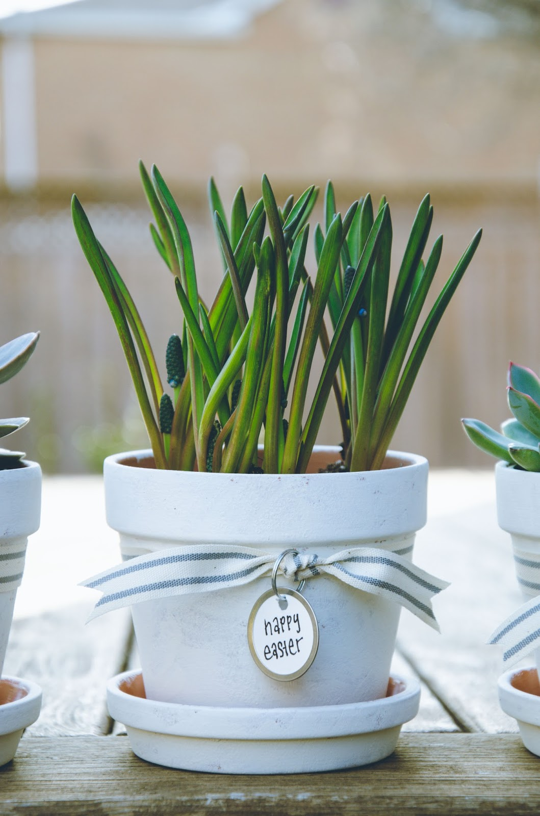 shabby chic personalized flowerpots | personally andrea: shabby