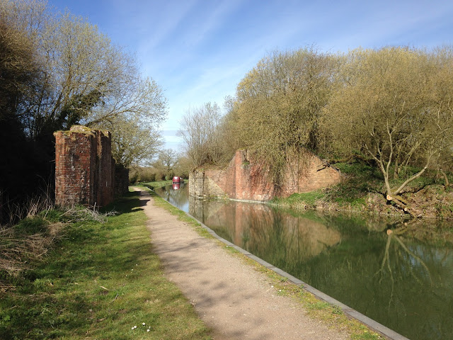 Remains of a bridge carrying the Midland and South Western Junction Railway over the Kennet and Avon Canal
