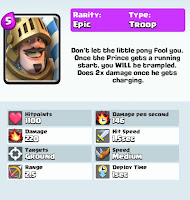 clash royale game prince card strategy