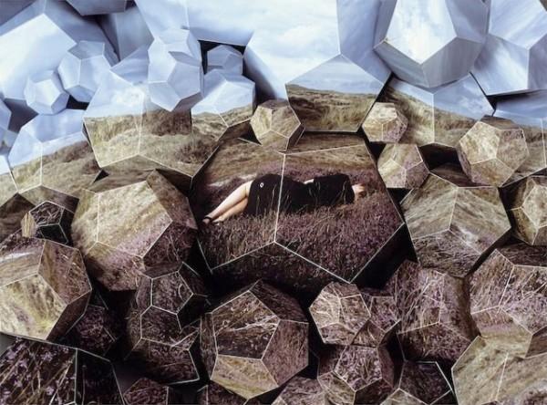 Esculturas de papel y fotografias