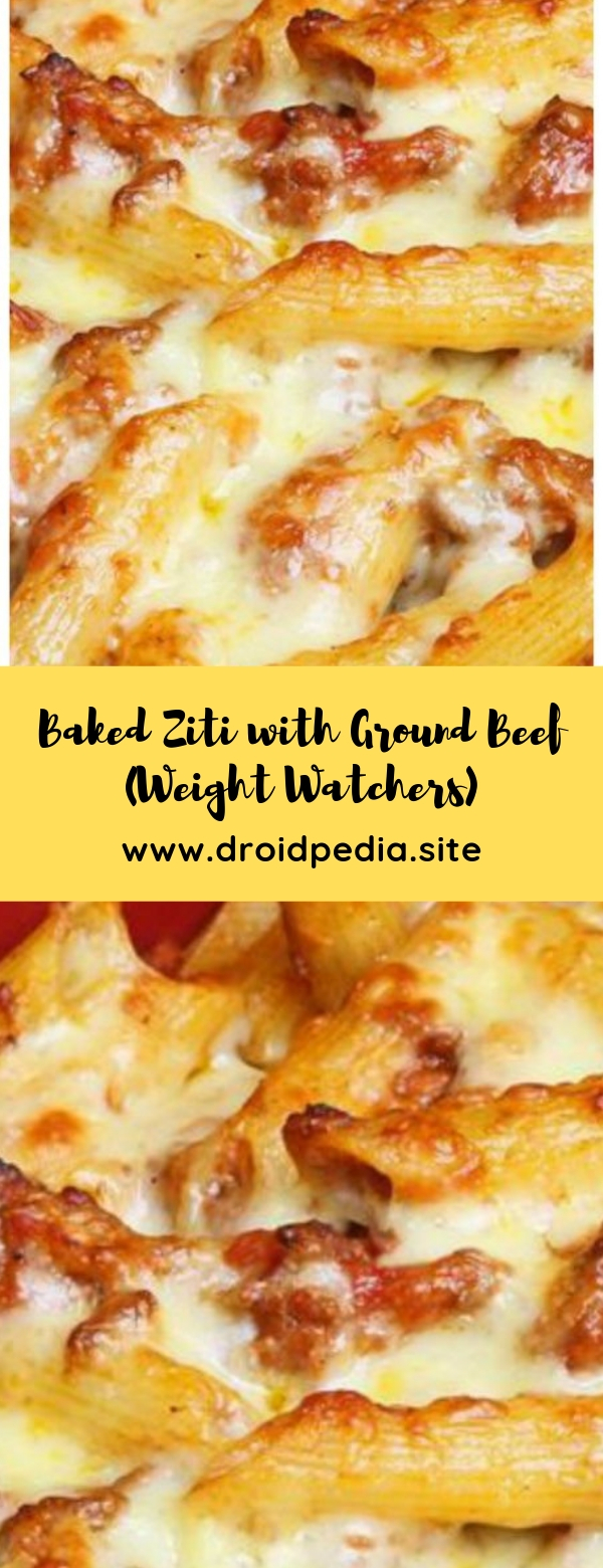 Baked Ziti with Ground Beef (Weight Watchers)  #beef #weightwatchers #maincourse