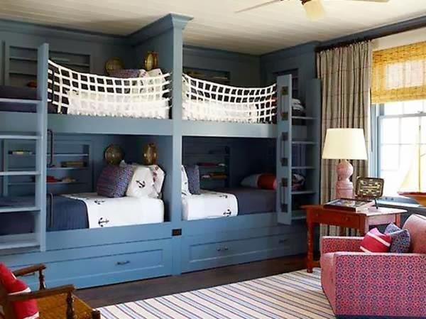 Dormitorios con camas literas para ni os dormitorios for Habitaciones para ninas con literas
