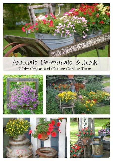 2014 Junk Garden Tour #annuals #perennials #junk
