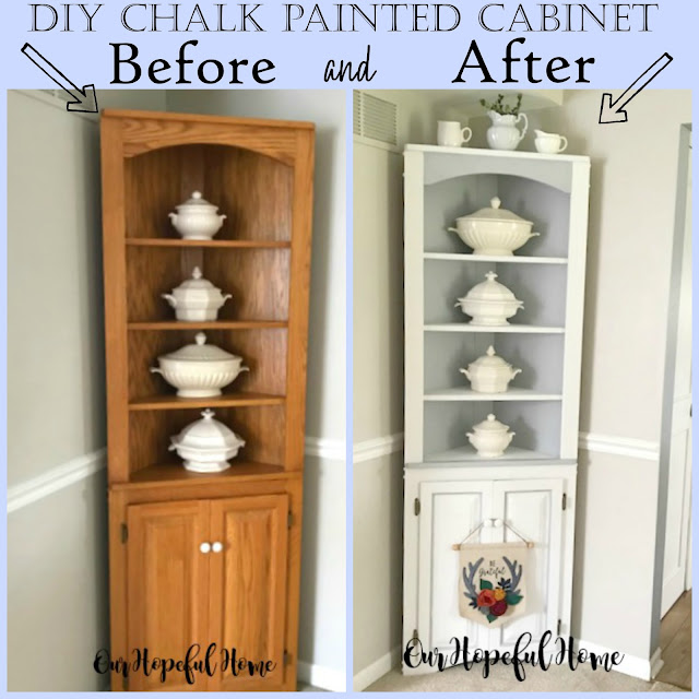 farmhouse dining room cabinet makeover