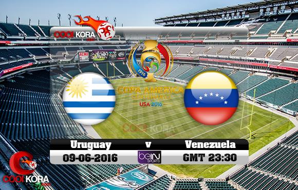 مشاهدة مباراة أوروجواي وفنزويلا اليوم 10-6-2016 كوبا أمريكا