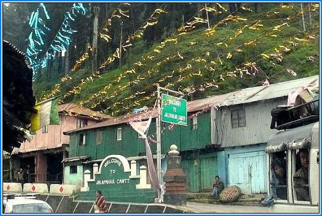 Way to Jalapahar Cantt Darjeeling