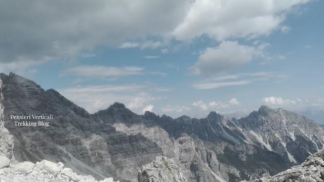 Le montagne che circondano l'Hoher Burgstall
