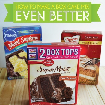 Box Cake Mix Tips