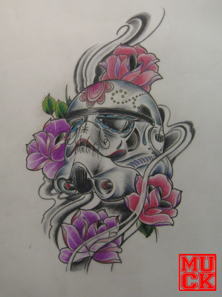 Storm Trooper Tattoo Roses