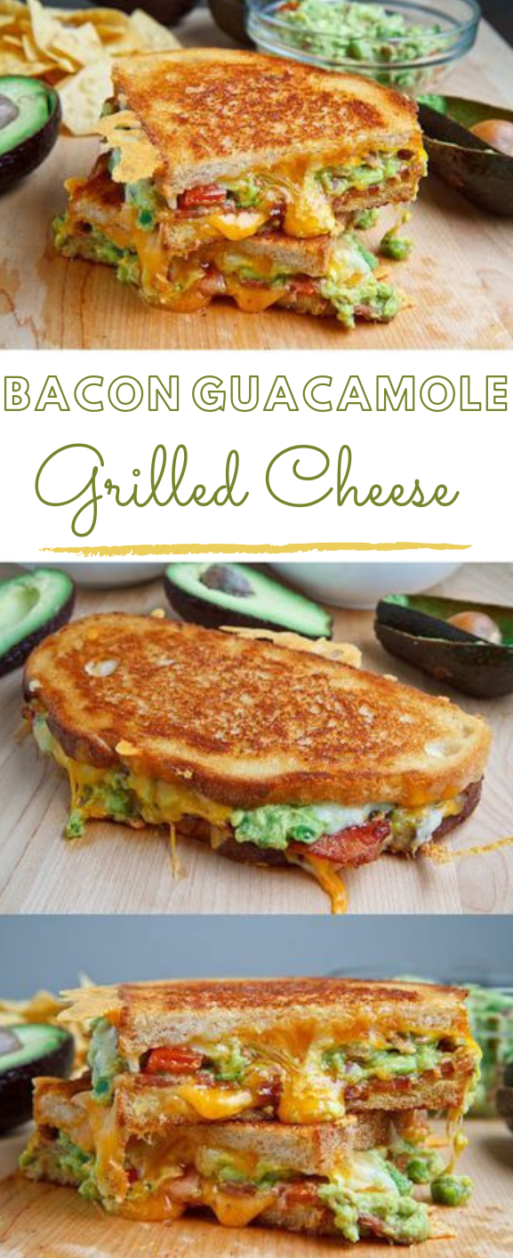 Bacon Guacamole Grilled Cheese Sandwich #dinner # bacon