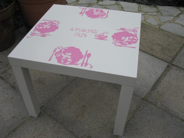 small table furniture decals ideas