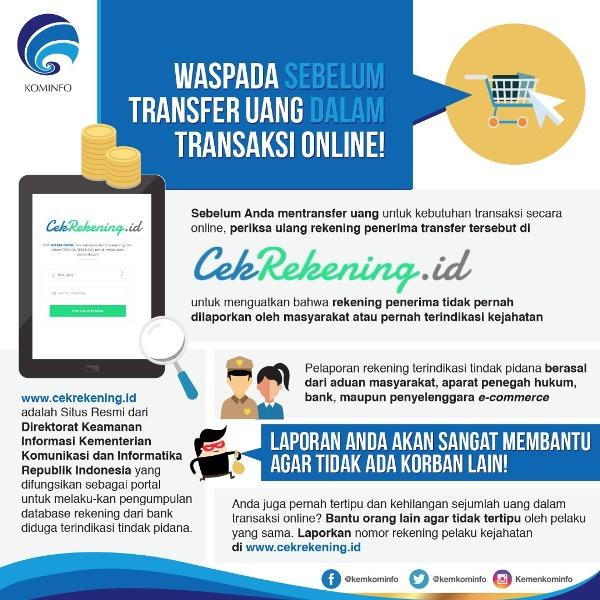 Transaksi Online Aman Dengan Aplikasi Cekrekening.Id. Transaksi Aman Membuat Nyaman