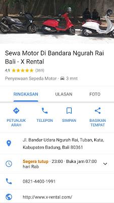 Ulasan-Pelanggan-X-Rental-Motor-Bali-Via-google-maps