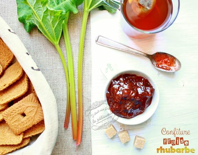 recette confiture fraise rhubarbe