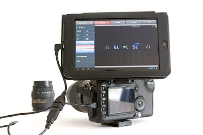 DSLR connected with Android device using USB OTG.