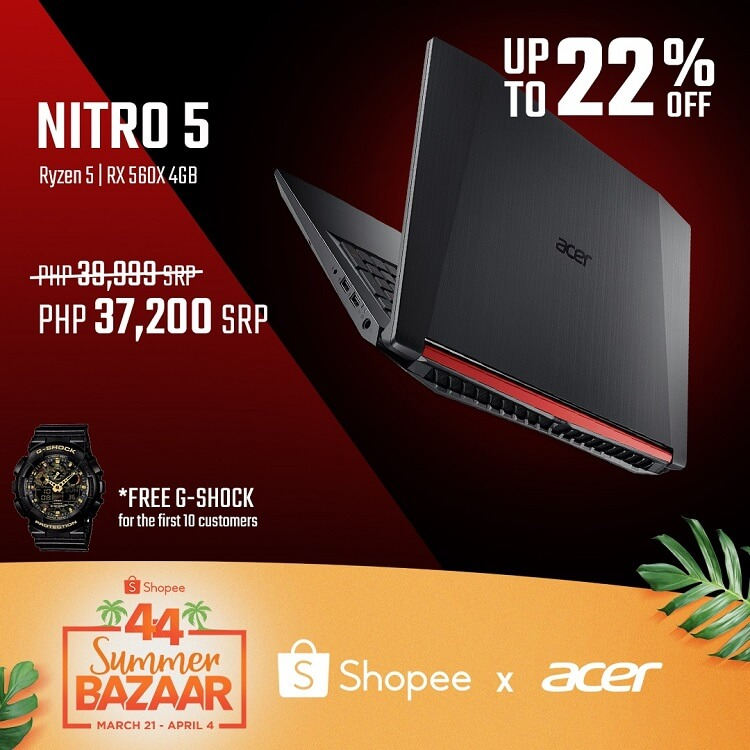 Get Acer Products at Discounted Price with Shopee 4.4 Summer Bazaar