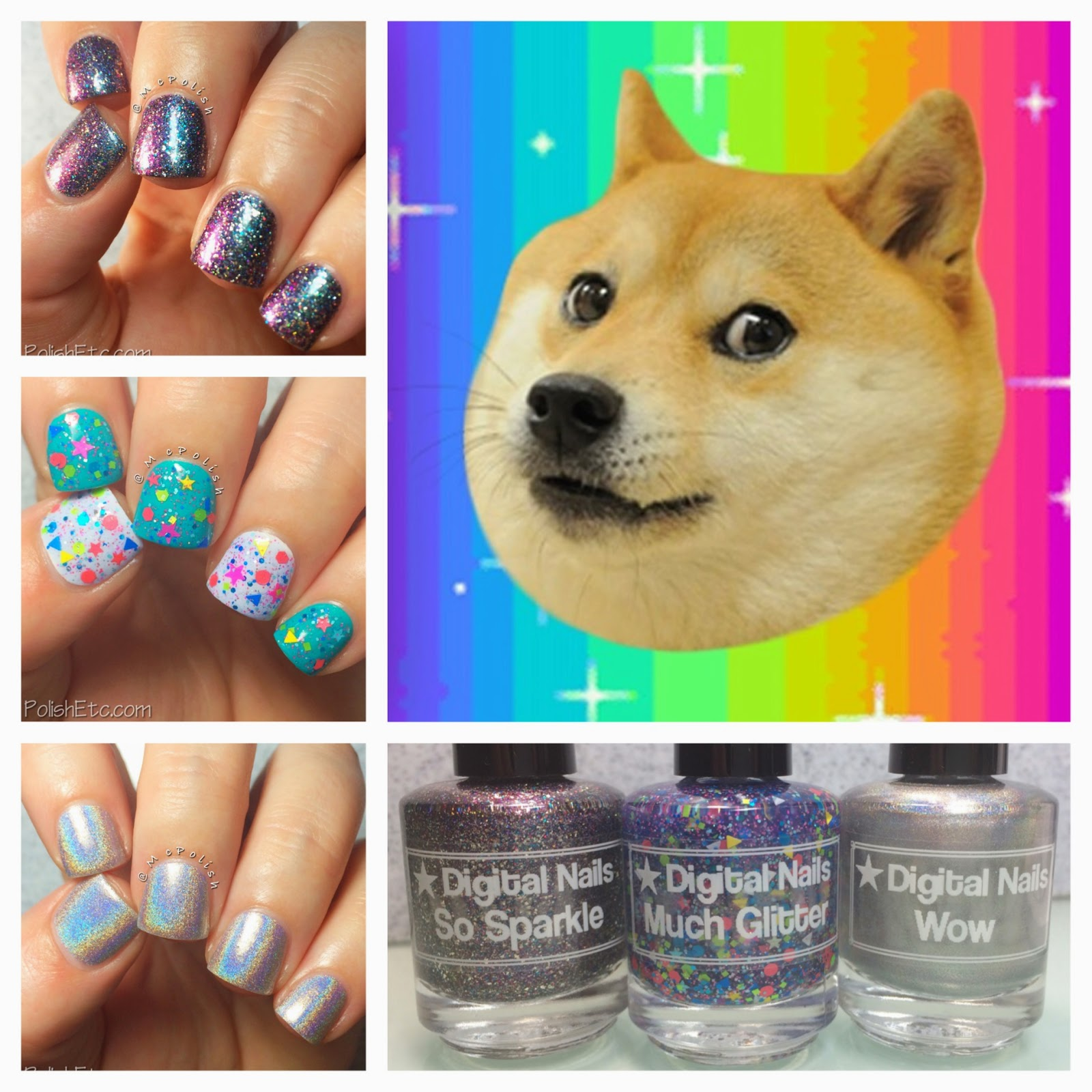 Digital Nails - Doge Trio by McPolish