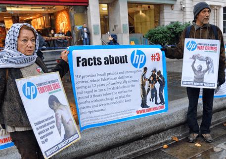 hp israil malı protesto
