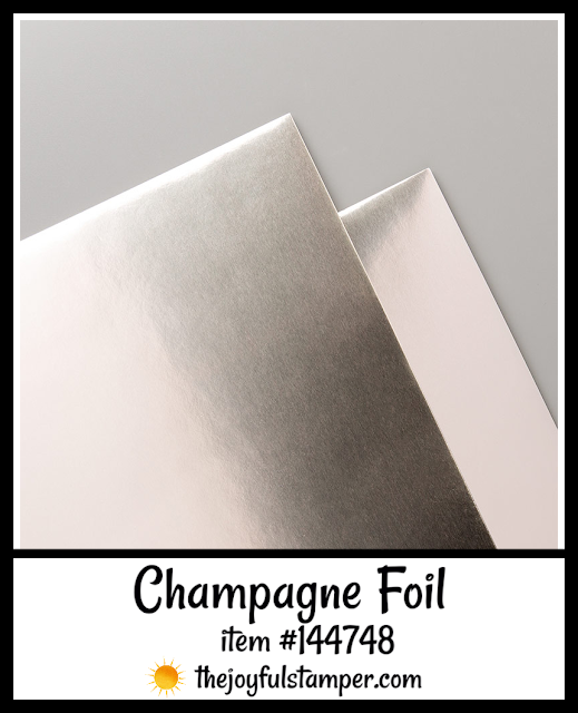 Champagne Foil | item #144748 | Stampin' Up! 2019-2020 Annual Catalog