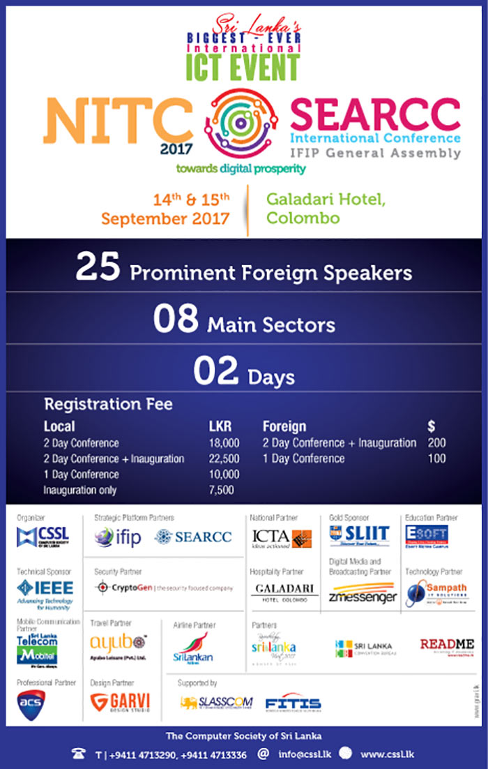 CSSL | Register Now - Sri Lanka's BIGGEST EVER International ICT EVENT.