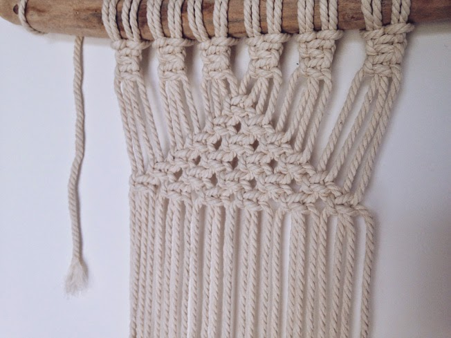 macrame wall hanging we are family. Black Bedroom Furniture Sets. Home Design Ideas