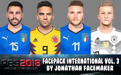 PES 2018 Facepack International v3 by Jonathan Facemaker