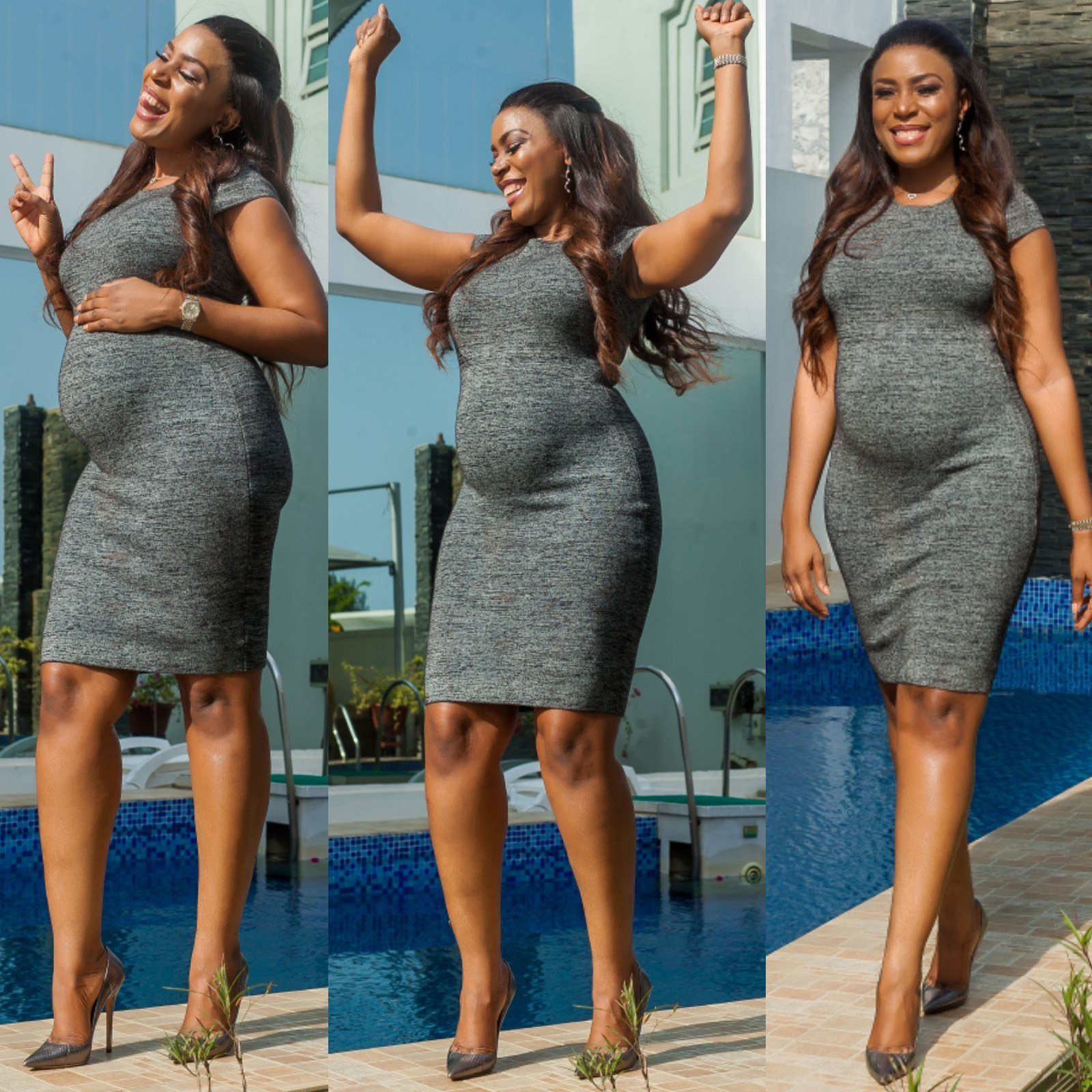 Linda Ikeji pregnancy photos