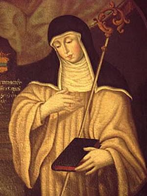 Santa Matilde con el Báculo y el Libro
