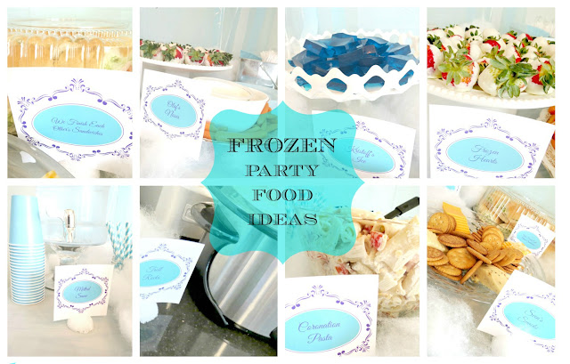 Frozen Themed Birthday Party - Food Ideas - Family and the Lake House