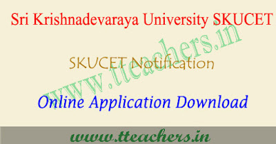 SKUCET 2019 online application form, sku pgcet apply online 2019