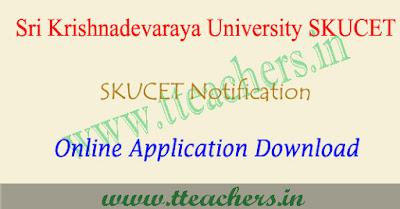 SKUCET 2019 online application form, sku pgcet apply online 2019