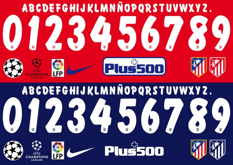f8f9951380843 Camisetas de futbol 2018 2019 baratas  Tipografía para la Liga ...