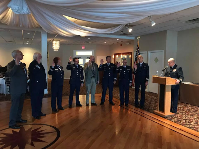 Commanders and Vice Commanders of Division 16 flotillas are sworn in.