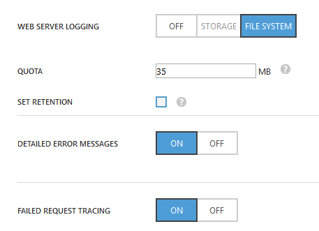 Web Server Logging - Windows Azure