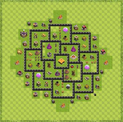 War Base Town Hall Level 8 By John Stratton (War Base Layout)