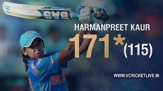 हरमनप्रीत कौर का शानदार शतक - भारत महिला विश्वकप के फ़ाइनल में