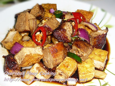 Tokwa't Manok, Chicken and Tofu