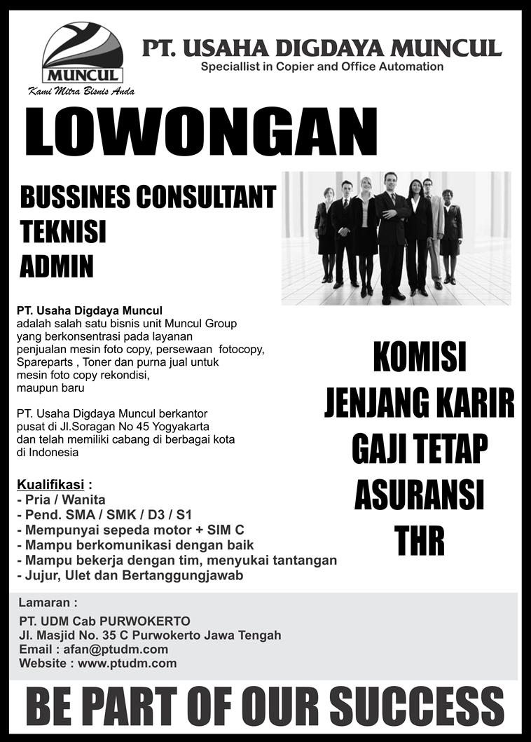 Loker PT.Usaha Digdaya Muncul Purwokerto | Loker Satria