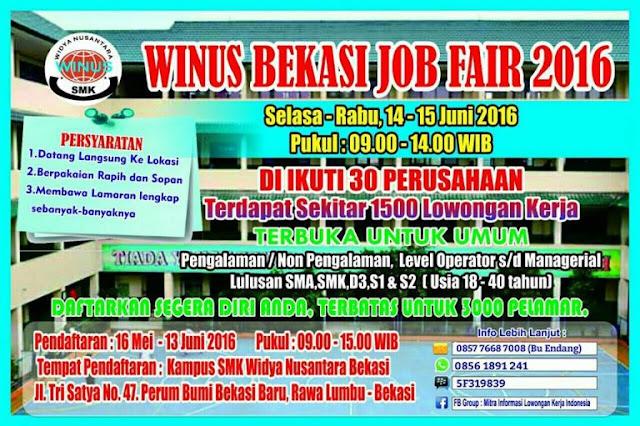 Jobfair Bekasi di Kampus Winus Widya Nusantara Bekasi Jakarta