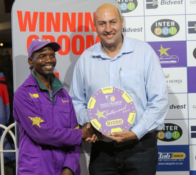 Winning grooms at Hollywoodbets Scottsville on Sunday 8th December 2019