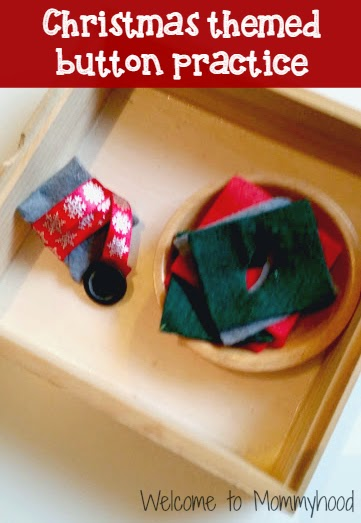 Christmas activities for toddlers {Welcome to MOmmyhood} #Montessori, #toddleractivities, #christmasactivitiesfortoddlers