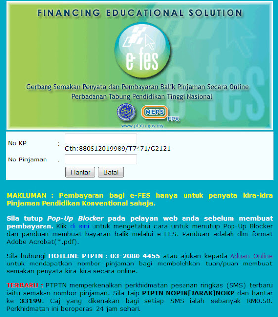 How to check PTPTN Online
