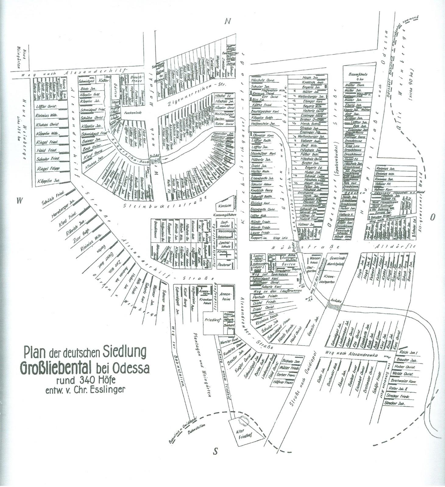 Germans from Russia Settlement Locations Groliebental Liebental