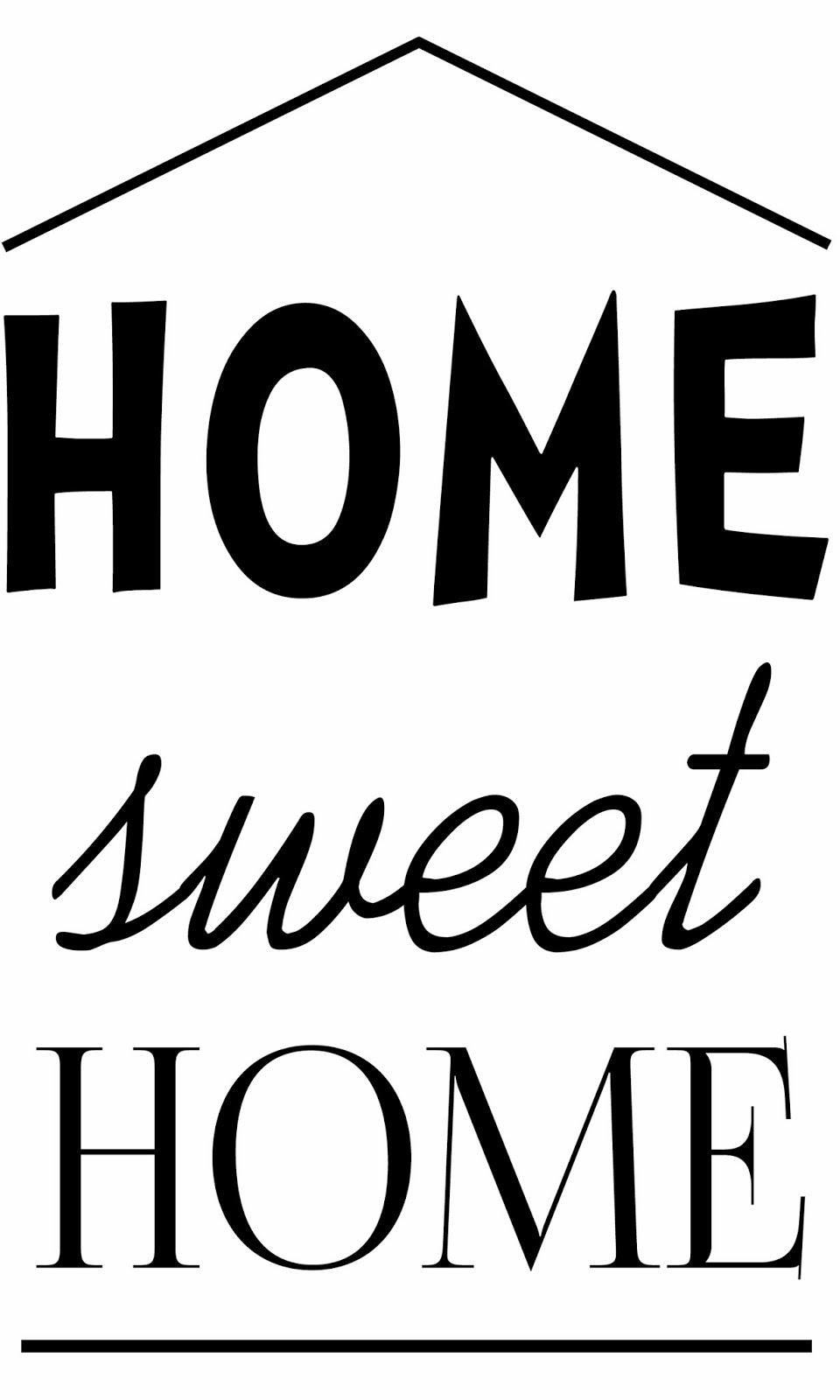 troch o tym i troch o tamtym home sweet home transferowa grafika. Black Bedroom Furniture Sets. Home Design Ideas