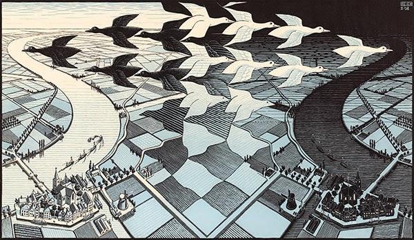 Dia e Noite - Escher, M. C. e suas geniais litogravuras