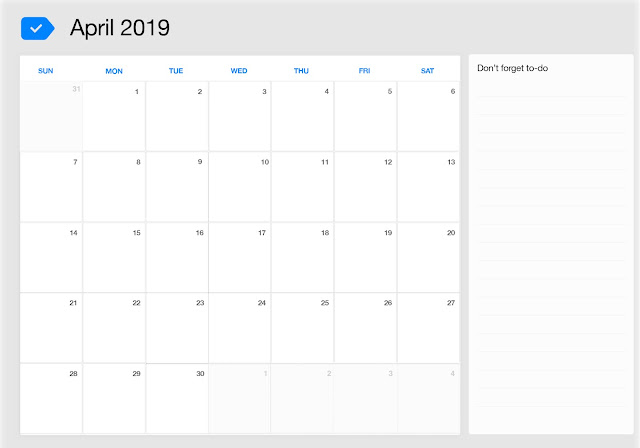 April 2019 Calendar, April 2019 Calendar Printable, April 2019 Calendar Template, Blank April 2019 Calendar, Free April 2019 Calendar, Download April Calendar 2019