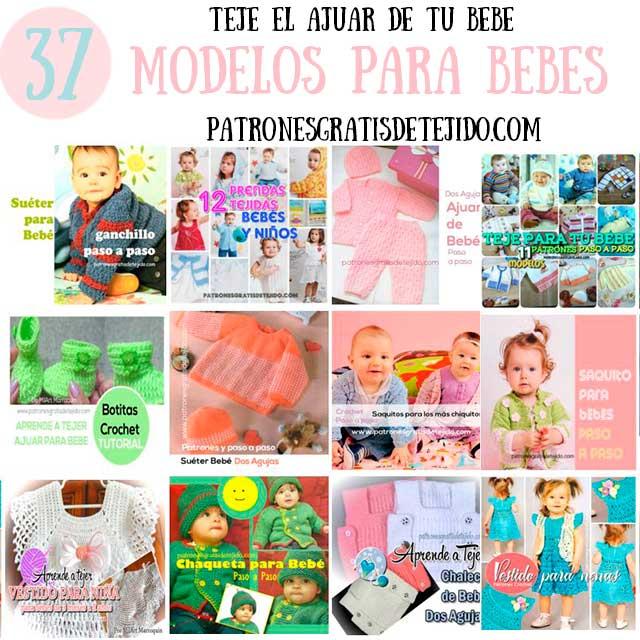 37 Modelos de Ropa para Bebés / Patrones y Tutoriales crochet y ...
