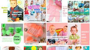 37 Modelos de Ropa para Bebés / Patrones y Tutoriales crochet y tricot